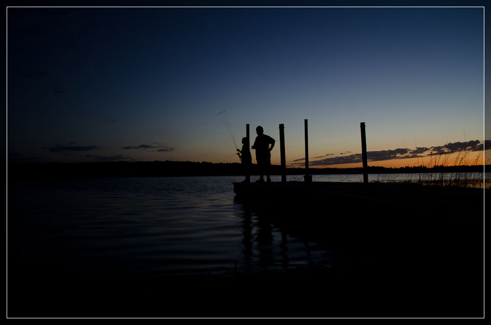 Fishing at Dusk at the Deer Lake Access - near Puposky, MN